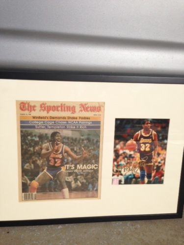 Magic Johnson Signed autograph picture Framed