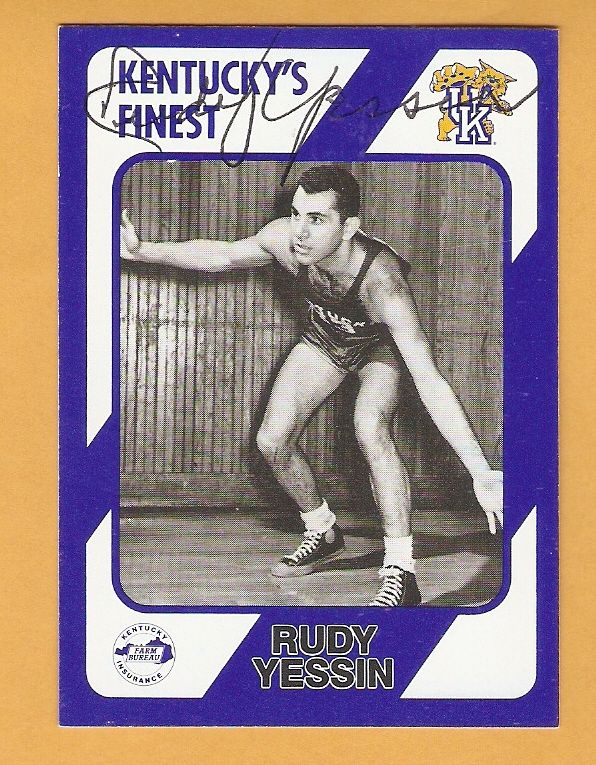 Rudy Yessin Kentucky Wildcats AUTO Signed 1989 card Harlan 25N