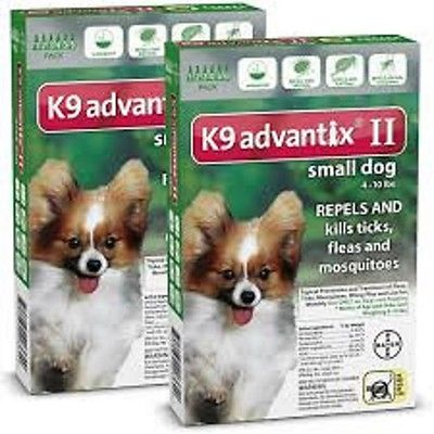 k9 advantix II for small dogs 10lbs and under      2 boxes a 12 month supply