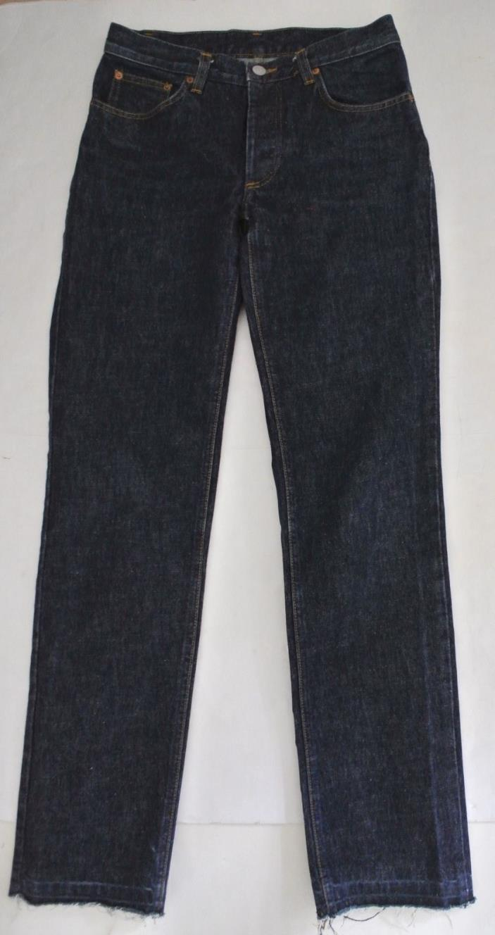 vtg 1997 HELMUT LANG button fly Jeans sz 28 raw frayed hems