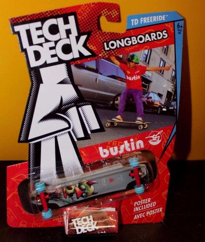 Tech Deck Longboards 'Bustin' w/Poster - NIP NRFP