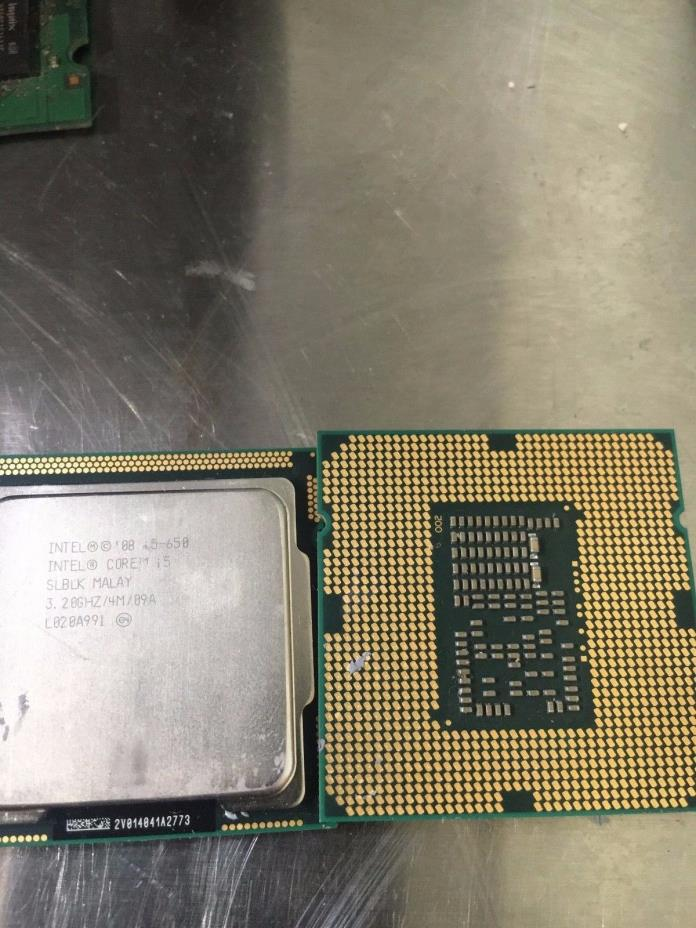2 PCS INTEL CORE i5-650 DUAL CORE SLBLK 4MB  3.20GHZ