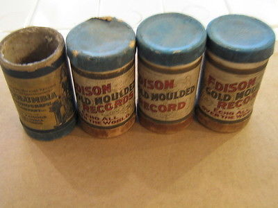 3 Edison Gold Moulded Records