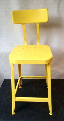 Vintage / Industrial Square Metal Steampunk Drafting Adjustable Chair/stool LYON