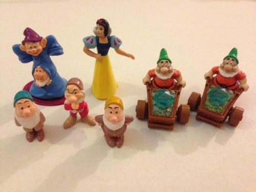 1993 Mattel / Disney Snow White Mixed Figures Lot Of 7