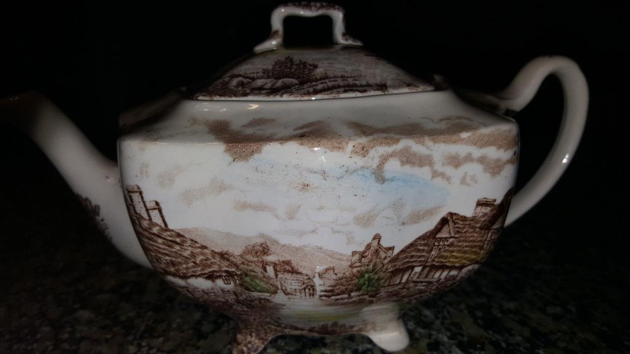 Johnson Bros Olde English Countryside Tea pot with Lid Multi Color