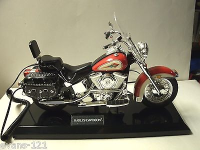 Harley Davidson Motorcycle Telephone! Red, Black and Silver Accents