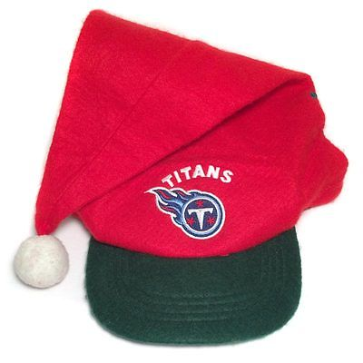 NFL Game Day - Tennessee Titans Santa Hat Cap Christmas Holiday Winter Snapback