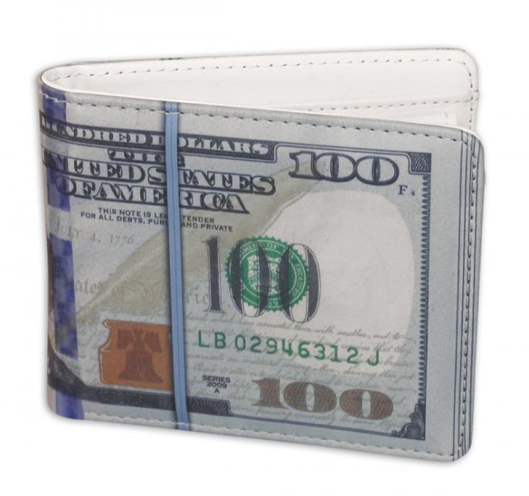 One Hundred Dollar Wallet $100 Bill