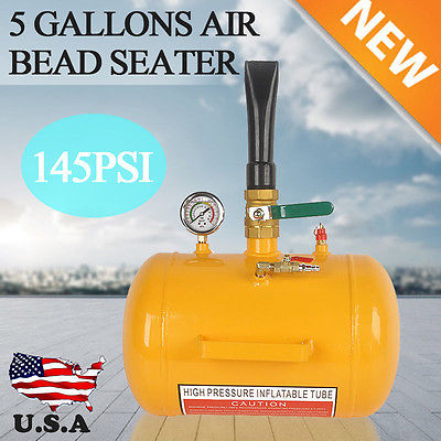 A+++5 Gallon Air Bead Seater Tire Tool Blaster Inflator Wheel Tool Yellow 145PSI
