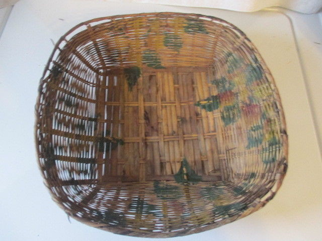 Vintage Basket Woven  Sweet Grass  painted decorative