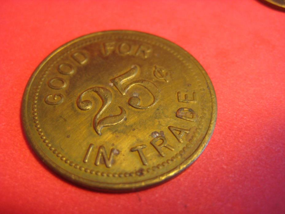 MISSISSIPPI STATE PENITENTIARY PRISON 25 CENT TRADE TOKEN PARCHMAN