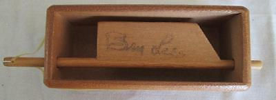 Small Vintage Ben Lee Turkey Call Box Signed NICE