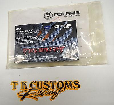 2006 Polaris Predator Snowmobile Rev1 Owner's Maintence & Safety Manual #9920183