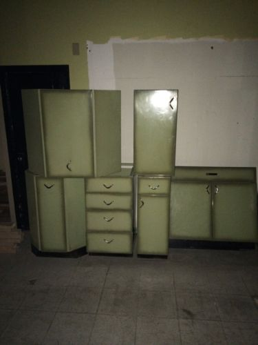 Green Youngstown Kitchen Cabinets
