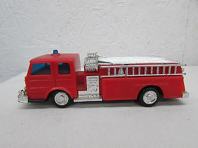 Vintage Plastic Lucky Toys Toy Friction Fire Truck Hong Kong