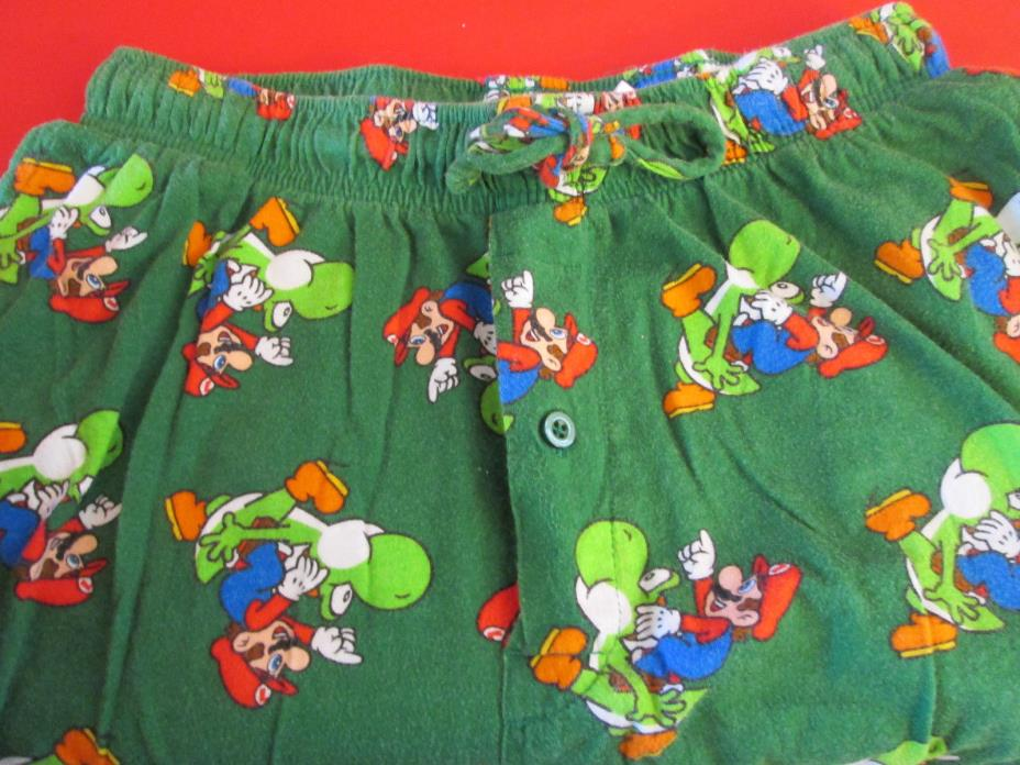 Men's Small Super Mario & Yoshi Dinosaur lounge pj pants bottoms