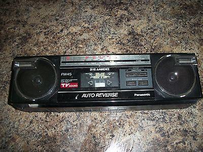 Vintage Panasonic RX-FM45 Stereo Radio Cassette Recorder Boombox Electronics