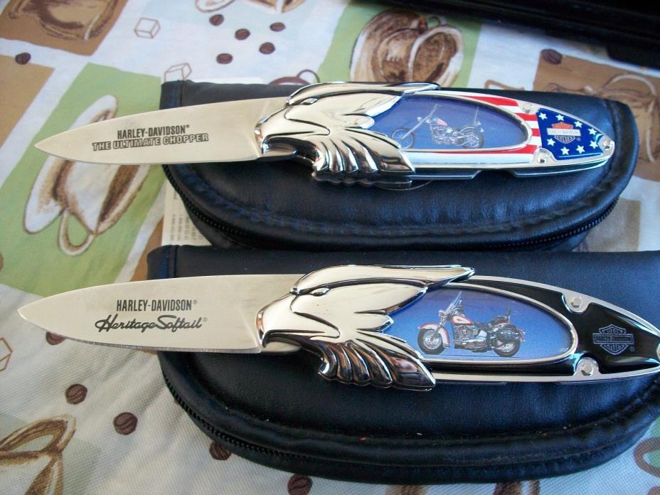Harley Davidson Heritage Softail & ultimate chopper Franklin Mint Knife