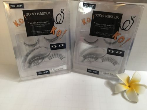 Sonia Kashuk NEW Knock Out Beauty Eyelash Set- Lot Of 2