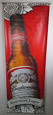 Budweiser Beer vinyl sign doble sided dated 2009. Excelent condition