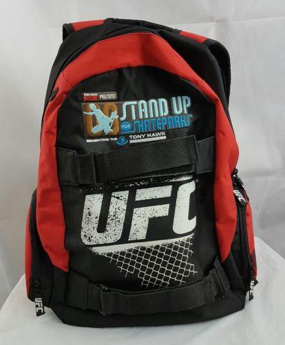 UFC Tony Hawk Red Black Backpack Stand Up Skateparks