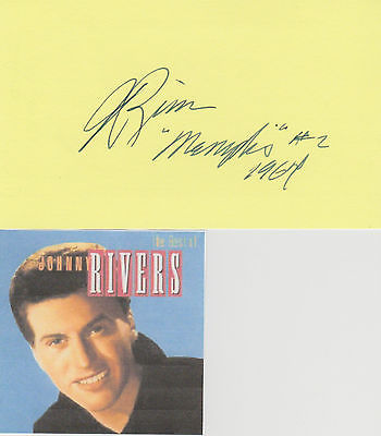 Johnny Rivers signed card!