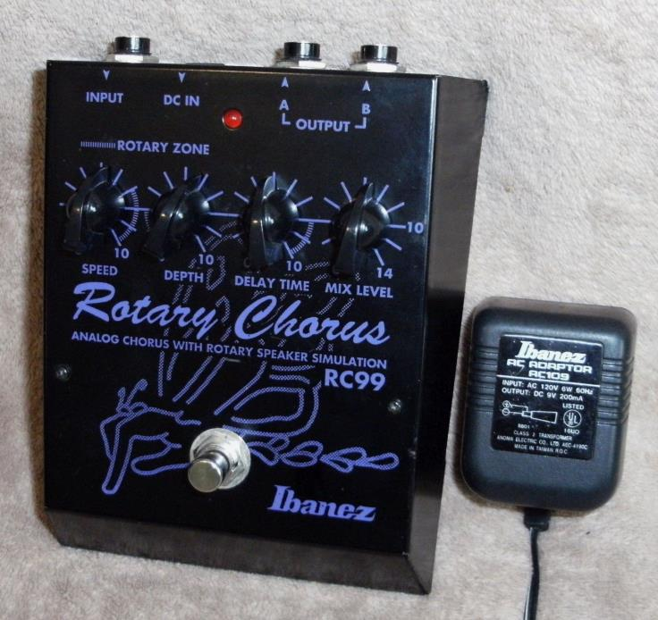 IBANEZ RC-99 ANALOG CHORUS ROTARY SPEAKER EFFECT GUITAR PEDAL, MADE IN JAPAN!
