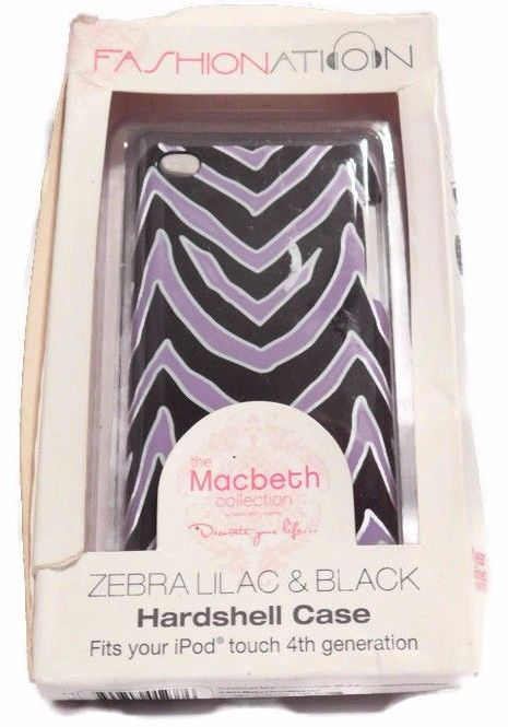 Fashionation The Macbeth Zebra Lilac & Black iPod touch 4th gen. Hardshell case