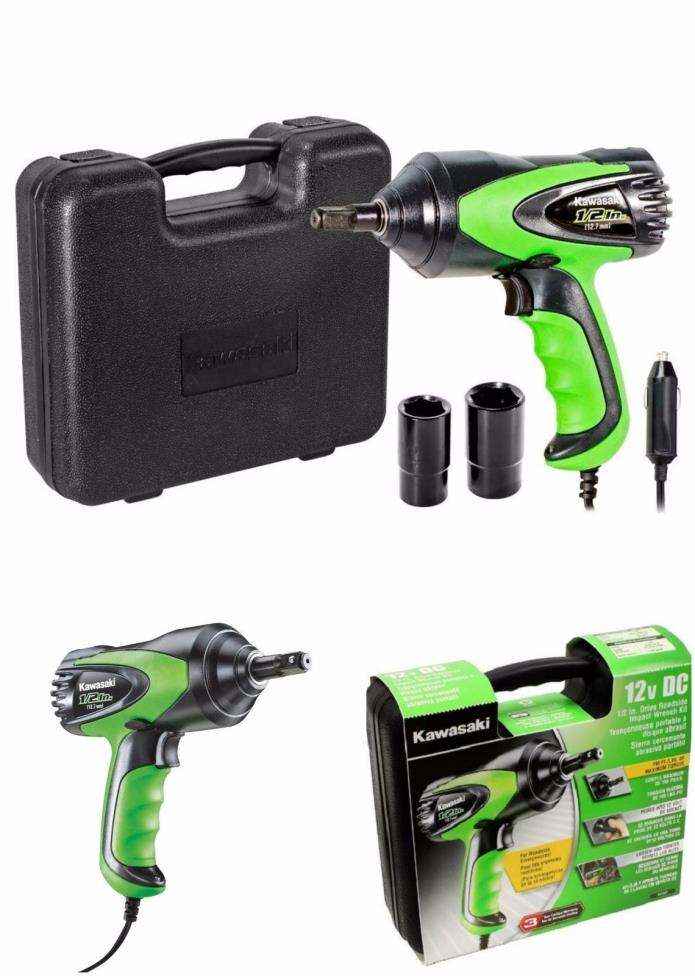 1/2-Inch Impact Electric Wrench Kit Tire Change Corded Heavy Duty Roadside Drive