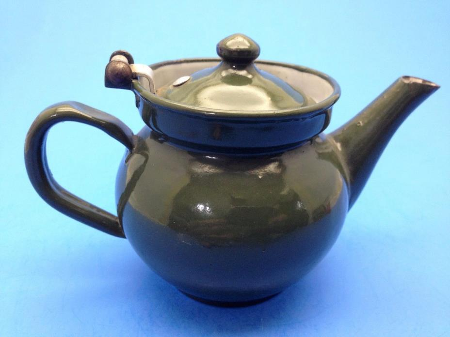 Vintage Czechoslovakia Enamel Ware Small Teapot