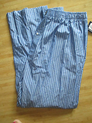 POLO RALPH LAUREN  Sz S WOVEN PAJAMA LOUNGE PANT $42 PJ'S Striped Blue