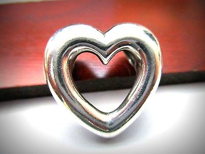 Retired James Avery Puffed Open Heart Pendant