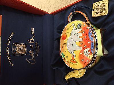 Charlotte-Di-Vita-ELEPHANTS-NEW-WORLD-SYMPHONY- teapot, NIB
