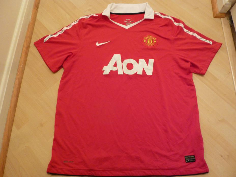 Nike 2010/2011 Manchester United Red Home Jersey (Men Size XL)