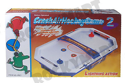 Crash Air Hockey Game 2  Battery Operated Lighting Action 21