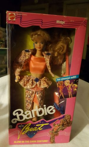 Mattel Barbie Doll 1989 Barbie and the Beat Midge Doll