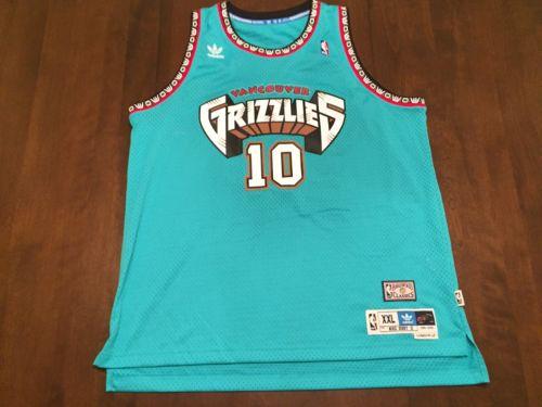Mike Bibby Vancouver Grizzlies NBA Adidas Hardwood Classic Jersey (XXL)