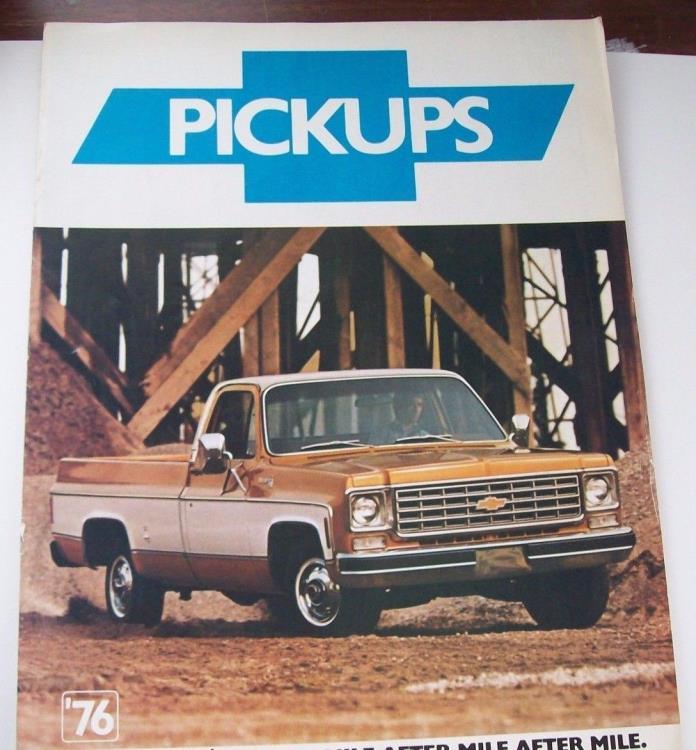 Original 1976 Chevrolet Dealers Sales Brochure Chevy Pickup Trucks