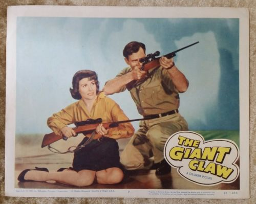 THE GIANT CLAW - 1957 Original Lobby Card #7 Horror Sci-Fi Columbia Pictures