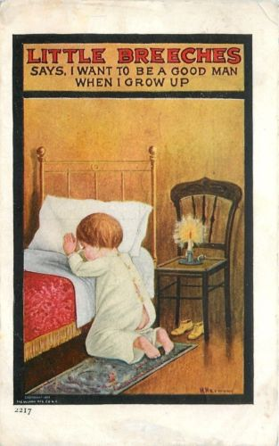 H Harmony~Little Breeches~I Want To Be A Good Man~Boy Prays~PJ Flap Open~1911 PC