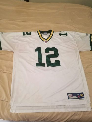 Aaron Rodgers NFL on field Reebok Jersey (MENS 2XL) (LENGTH +2)