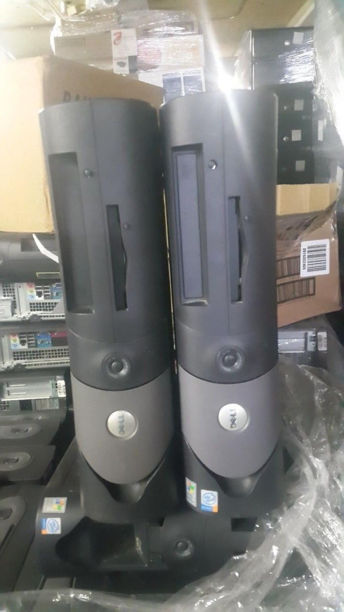 LOT OF 2 Dell Optiplex GX280 Desktop Intel Pentium 4 2.80GHz;1GB 40gb SEE DETAIL