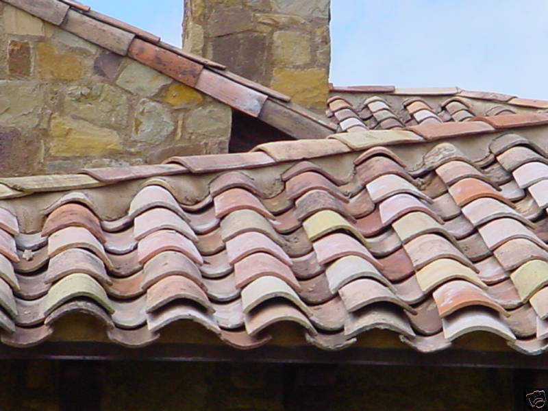 French antique clay roman roof tiles circa 1820 South of France (10,000 tiles)