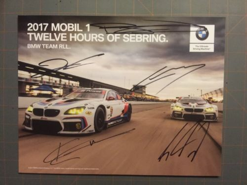 2017 Rahal Letterman Lanigan #24 #25 BMW GTLM signed Rolex IMSA Hero Card
