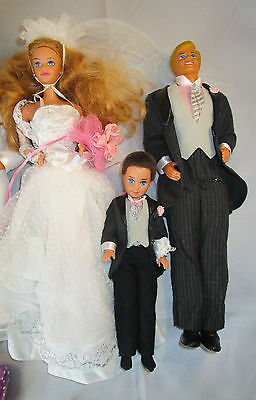 COLLECTIBLE VINTAGE MIDGE'S WEDDING MIDGE,ALAN AND TODD DOLLS