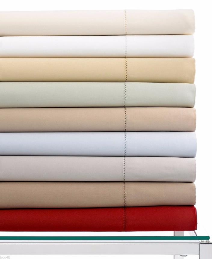 Hotel Collection 600TC 100% Egyptian cotton Fitted Sheet - queen - white