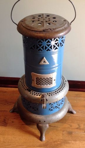 Vintage Perfection 1630 Smokeless Oil Kerosene Heater Blue Porcelain USA