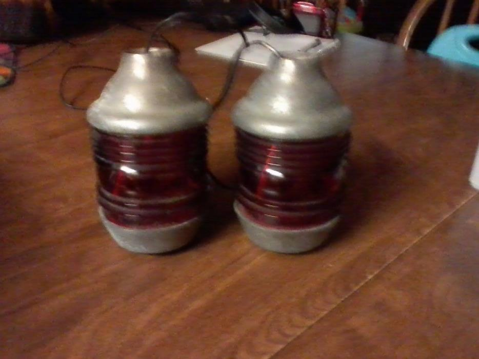 VINTAGE FIRE TRUCK LIGHTS (2)