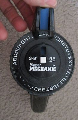 Master Mechanic Label Maker Vintage? Black Works Great!